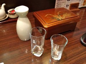 After the soul-draining visit to the Peace Museum Lisa and I needed some Hiroshima sake and anago to soothe the sorrow.