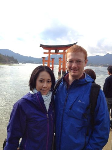 Saturday afternoon Lisa and I took the 30-minute  ferry ride to Miyajima island, home of the Itsukushima shrine.