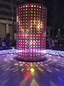 At least we were able to see the beautiful revolving lanterns on Gyoko-dori Avenue.