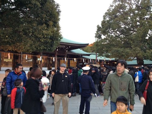 Your author posing in front of Meiji Shrine in Tokyo on New Year's Day.