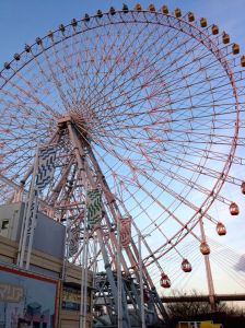 There are freakin' Ferris wheels everywhere in Japan, especially Osaka. This one was next to the aquarium.