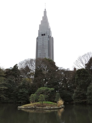 This is the NTT Docomo building, and it is actually located in Yoyogi.
