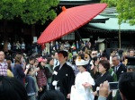 A wedding procession in Meiji Jingu. These guys gotta be filthy rich.