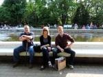 Taking a rest break in Yoyogi Park.
