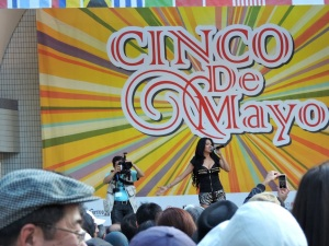 Fabiola Jaramillo performing at the inaugural Tokyo Cinco de Mayo Festival.