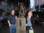 Mom and Dad and Hachiko.