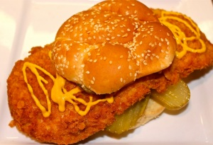 The pork tenderloin sandwich: a Midwest staple.