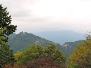 The view of Mount Mitake from Mount Hinode