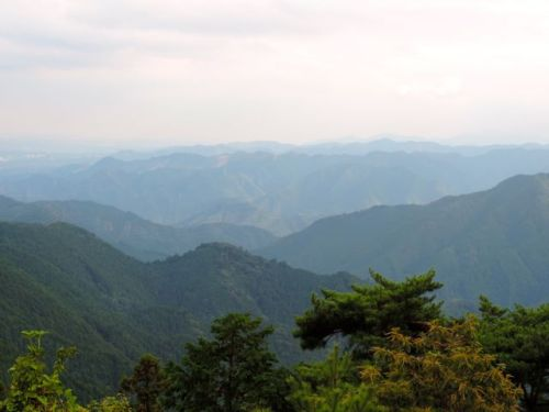 The view of  Chichibu-Tama-Kai National Park from the summit of Mount Hinode.