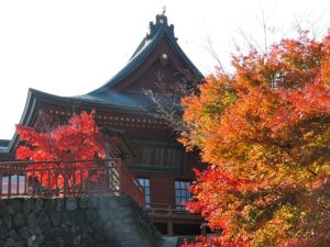 Musashi-Mitake Shrine and some damn pretty leaves.