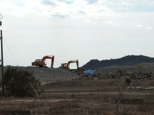 The lonely excavators.