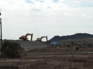 The lonely excavators.